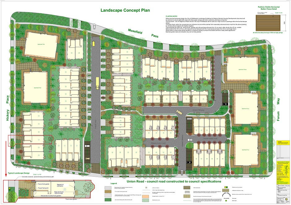 110 Townhouses Landscape Design