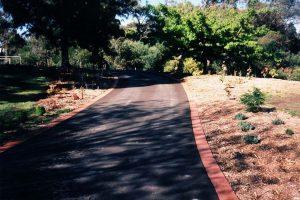 Bitumen Driveway And Brick Edging