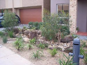 Dry Creek Bed Front Garden