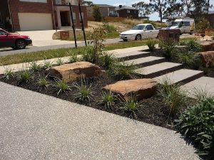 Exposed Aggregate Driveway And Stairs