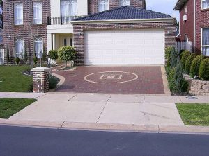 Paved Driveway Landscaping