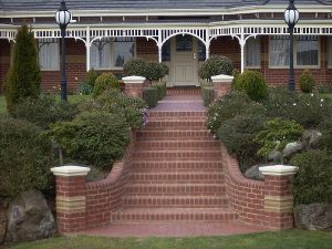Red Brick Entrance Stairs
