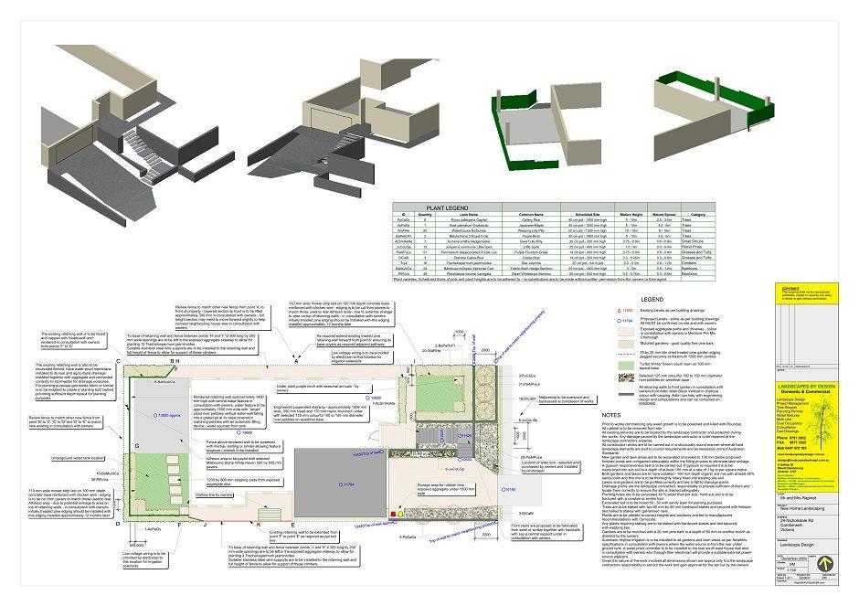 Camberwell Landscape Design 3d