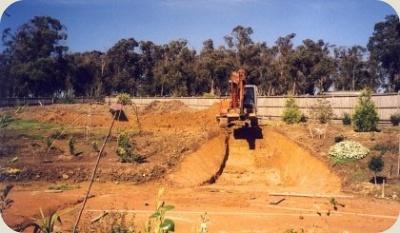 Landscape Excavation Water Feature