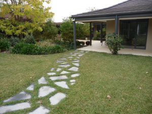 Slate Steppers In Lawn